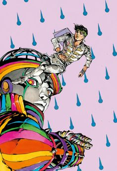 """"""" Here's the clean version of the Moday, Sunshowers cover, cleaned up by me. Jojo's Bizarre Adventure Anime, Jojo Bizzare Adventure, Bizarre Art, Jojo Bizarre, Manga Anime, Anime Art, Character Art, Character Design, Jojo Parts"""