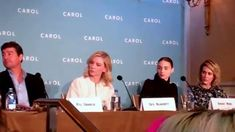 carol press conference with director Todd Haynes , writer Phyllis Nagy ,...