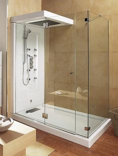 Image result for showers in bathrooms with wooden floors