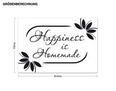 Wandtattoo Happiness is Homemade Wandtattoos Sprüche, Worte & Zitate Englisch