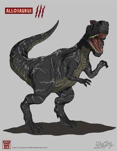 Jurassic World Fallen Kingdom: Allosaurus by JurassicWorldFan