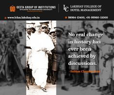 Netaji Subhash Chandra Bose's 115th birth anniversary today! #LakshayCollegeOfHotelManagement