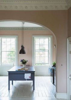 Painting kitchen cabinets white shades farrow ball 43 ideas for 2019 Farrow Ball, Farrow And Ball Paint, Painting Kitchen Cabinets White, Painting Oak Cabinets, Oak Kitchen Cabinets, White Cabinets, Painting Walls, Kitchen Island, Colores Paredes