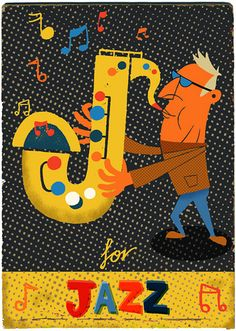 J for Jazz by Paul Thurlby, via Flickr
