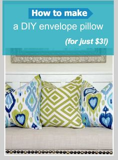 DIY: Envelope Pillow