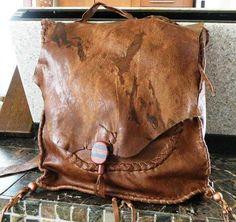 buffalo leather back pack by gloryjim on Etsy, $125.00