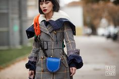From power suits and eye-catching tops to cosy knits and casual denim, see all the best street style from Paris Fashion Week Spring/Summer 2018.