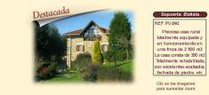 PV846 Sopuerta. Bizkaia  Casa rural en venta. http://www.lancoisdoval.es/hoteles-con-encanto-en-venta.html