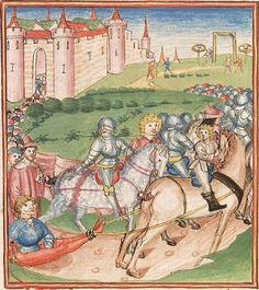 Elisabeth <Nassau-Saarbrücken, Gräfin, 1393-1456> Herpin — Stuttgart (?) - Werkstatt Ludwig Henfflin, um 1470 Cod. Pal. germ. 152 Folio 138r