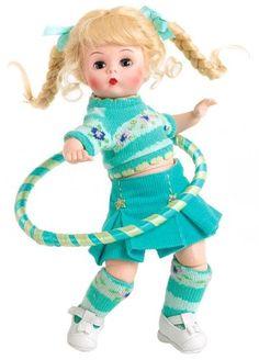 Dolly Doll, Madame Alexander Dolls, Hula Hoop, Hello Dolly, Vintage Dolls, Turquoise, Aqua, Kids Toys, Baby Dolls