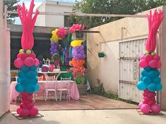 Trolls Birthday Party, Troll Party, 4th Birthday Parties, 1st Birthday Girls, Birthday Ideas, Birthday Party Centerpieces, Diy Birthday Decorations, Balloon Decorations, Party Ballons