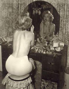 MM in the boudoir.
