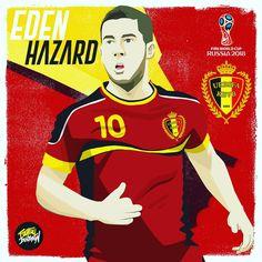 Eden Hazard / Bélgica #edenhazard #russia2018 #hazard #bélgica #belgium #worldcup2018 #worldcup #art #fifa #deportes #worldwide #cracks…