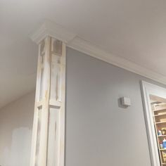 update house,home remodeling,home improvement,home renovation Home Upgrades, Home Remodeling Diy, Home Renovation, Basement Remodeling, Home Improvement Projects, Home Projects, Interior Columns, Columns Decor, Interior Door Trim