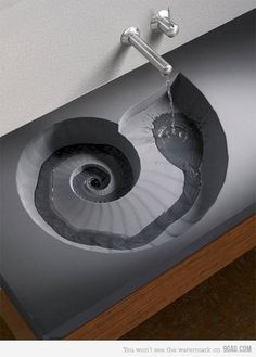 shell sink easy with diy concrete..... This would be amazing for a guest bathroom