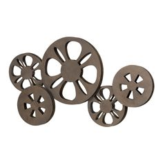 Woodland Imports Movie Reel Metal Wall Décor