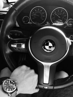 F30 BMW black and white