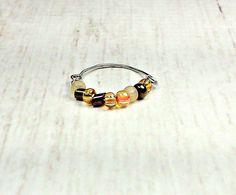 Beaded Ring - Boho Wire Ring - Ring For Women - Boho Ring - Simple Ring - Boho Jewelry - Womens Jewelry - Simple Ring Wire Rings, Beaded Rings, Boho Rings, Beaded Jewelry, Jewelry Rings, Fashion Bracelets, Fashion Jewelry, Women Jewelry, Bohemian Style Jewelry