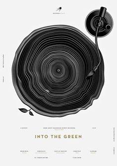 Into The Green Poster for Sputnik-4 - Open Air by Anton Burmistrov.