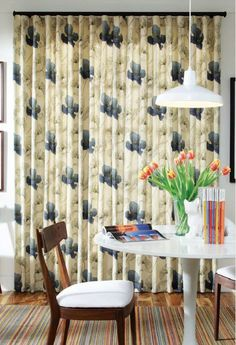 Ripplefold draperies from Carole Fabrics. Decor, Drapery Panels, Drapery, Ripplefold Draperies, Curtains, Shower Curtain, Paneling, Printed Shower Curtain, Home Decor