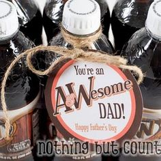 root beer cuteness for Father's Day. free printable.