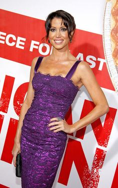 """Actress Shannon Elizabeth wore a Sutra ring to the Premiere of Universal Pictures' """"American Reunion"""" at Grauman's Chinese Theatre on March 2012 in Hollywood, California. Available at London Jewelers! Shannon Elizabeth, In Hollywood, Hollywood California, Universal Pictures, Runway Fashion, Actors & Actresses, Beautiful Women, London, Formal Dresses"""