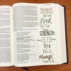 Seek HIS face always! #noteworthyTruth #journalingBible #Bibledoodles