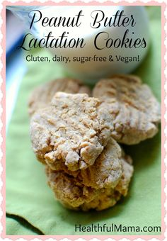 """A gluten-free, dairy-free, vegan (and delicious!) version of the famed """"lactation cookie."""" Packed with protein, iron, and healthy fats. Visit Healthful Mama for the full recipe."""