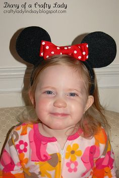 DIY Minnie Mouse Ears #disney #minniemouse #mickeyears