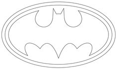 Baby footprints footprint and templates on pinterest for Batman logo cake template