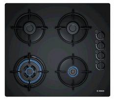 Bosch Series 2 Built in Gas Hob 4 Burners Black Cooktop Genuine for sale online Glass Installation, O Gas, Ignition System, Pressure Washing, Glass Design, Black Glass, Wok, Hobbit, Modern Contemporary