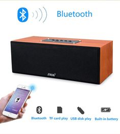 SADA A3 Wooden Bluetooth Speaker USB TF Portable Wireless speaker Sound System 2.0 sound channel stereo Music surround