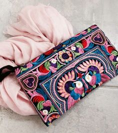 Lovely Pinks! http://www.irenesstory.com/p/6360/embroidered-festival-clutch?cid=58