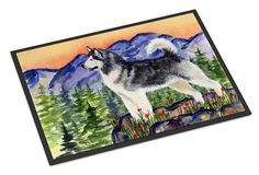 Alaskan Malamute Indoor Outdoor Mat 18x27 Doormat