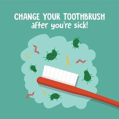 Be sure to change out your toothbrush after being ill to avoid getting sick all over again! #DentalTips #DentalHealthTips