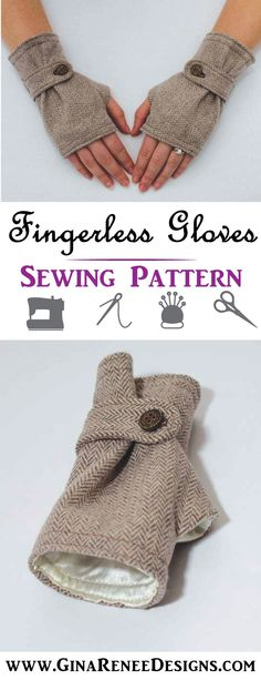 Excellent Photographs sewing hacks nifty Tips Lovely set of fingerless gloves! Fingerless Gloves Sewing Pattern, fingerless gloves pattern by Gi Sewing Hacks, Sewing Tutorials, Sewing Tips, Sewing Ideas, Fingerless Mittens, Sewing Projects For Beginners, Diy Projects, Love Sewing, Hand Sewing