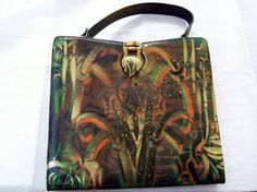 Unique airbrush painted bag by Lola