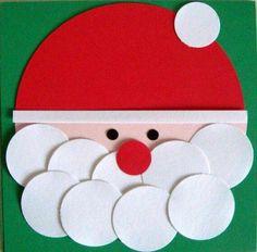 Kerstman met wattenschijfjes