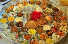 Vegetarian Thali #Gujarati Dish  #Gujju #Thali