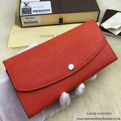 Louis Vuitton M60853 Emilie Wallet Epi Leather Louis Vuitton Emilie Wallet, Long Wallet, Continental Wallet, Wallets, Leather, Fashion, Moda, Fashion Styles, Purses