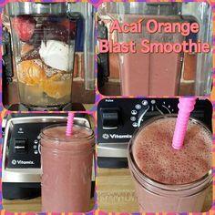 Acaí Orange Blast Smoothie  1 cup coconut water  1 orange  2 clementines  1/3 cup vanilla almond milk yogurt  1 pk frozen Sambazon Acaí  1/2 cup frozen strawberries  2 tsp flax seeds  1 tsp chia seeds  Blend in Vitamix and serve.  #vitamix #vegan #healthy #fruit #plantstrong #plantbased #whatveganseat #govegan #smoothie #breakfastsmoothie #sambazon #acai #dairyfree #godairyfree #healthyinhealthyu #foodisthymedicine #foodfornutrition #foodisnutrition #keepitreal #breakfast