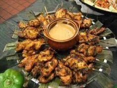 Hlíva jako špíz Chicken Satay, Tandoori Chicken, Tofu, Side Dishes, Grilling, Appetizers, Tasty, Sweets, Snacks