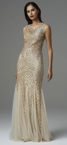 Adrianna Papell | Aidan Mattox Fully Beaded Godet Gown