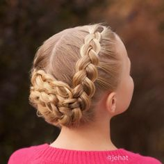 jehat hair — Another view of Bright's braided updo! This side...