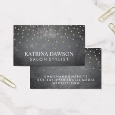 #hairstylist #businesscards - #Slate and Polka Dots Business Card