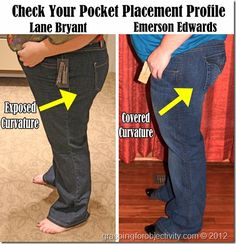 How to find the best jeans fit for your body type. She also has a blog post on regular size jeans.