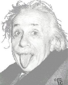 Albert Einstein Cross Stitch Pattern PDF by robinsdesign on Etsy