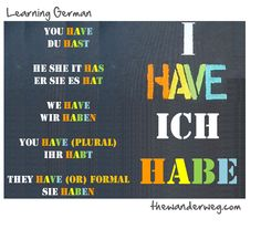 Learning German - I HAVE – Present Tense Verb Conjugation