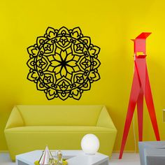 Mantra Om Yoga Mandala Wall Decal Vinyl Sticker Wall Decor Home - Wall stickers decalswall decal wikipedia