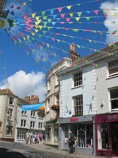 Church Street, Falmouth, Cornwall, UK
